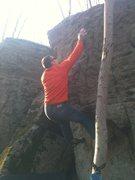 Rock Climbing Photo: Corey's attempt