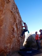 Rock Climbing Photo: holding on