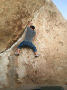 Rock Climbing Photo: easy start, more difficult finish