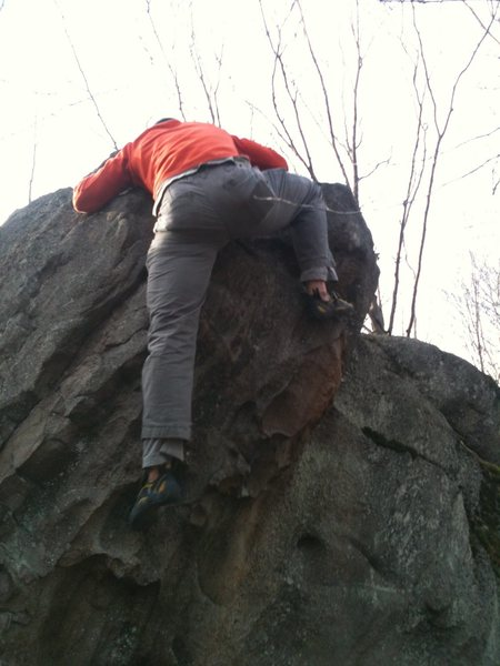 Rock Climbing Photo: Stepping over the top