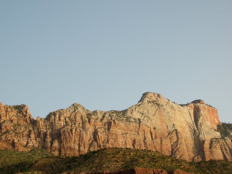 Rock Climbing Photo: West Temple from Springdale.