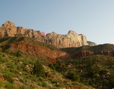 Rock Climbing Photo: Hike cross country to the notch.