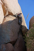 Rock Climbing Photo: Joe starts Mannventure with an open mind and stout...