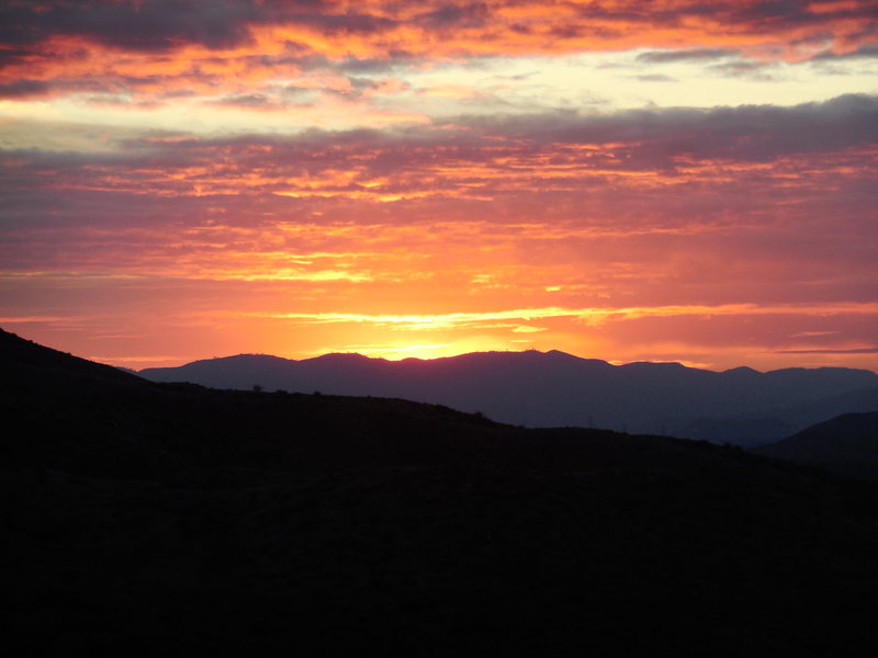 Sunset in the Angeles National Forest.