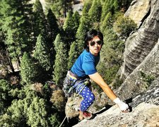 Rock Climbing Photo: Topping out on bishop's terrace