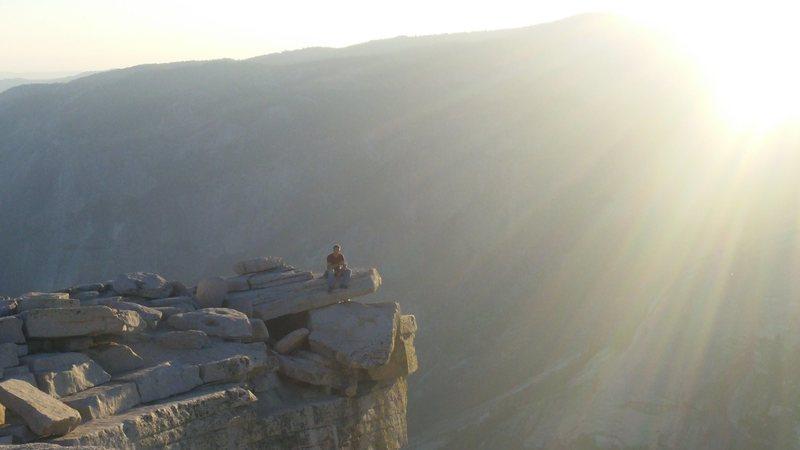 Rock Climbing Photo: me on half dome