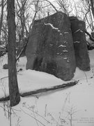 Rock Climbing Photo: The Slab in winter