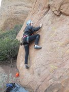 Rock Climbing Photo: Coming to grips with the initial face moves on &qu...