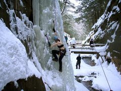 Rock Climbing Photo: A tid bit nipply...