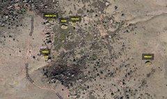 Satellite image of boulders.