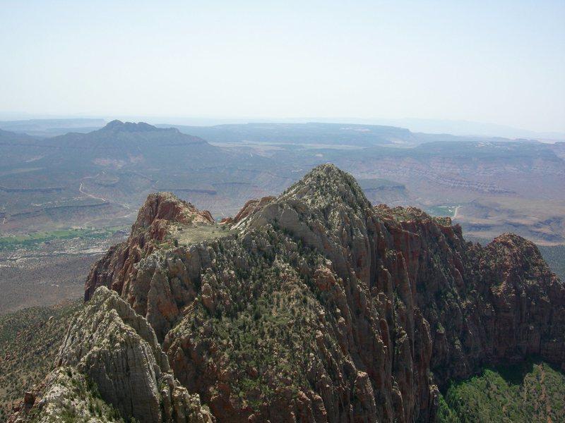 Mt. Kinesava from SW Ridge.