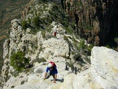 Rock Climbing Photo: Scrambling along the SW Ridge.