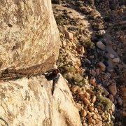 Rock Climbing Photo: Turning the corner after the traverse down from th...