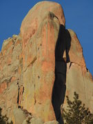Rock Climbing Photo: A party (including photographer) pushing a new lin...