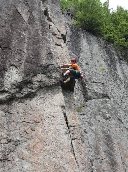 Rock Climbing Photo: burly laybacking..