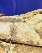"""Rock Climbing Photo: Passing on the retro-bolted """"anchors"""" in..."""