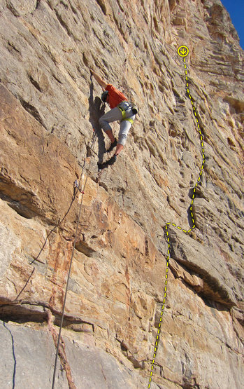 Rock Climbing Photo: Photo by Rich Strang. The climber is on Dynamic Du...