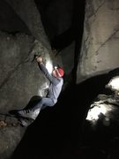 Rock Climbing Photo: Dave Lloyd on a nighttime run up this little fun l...