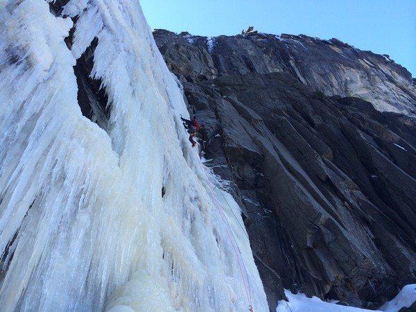 Rock Climbing Photo: Josh leading P8