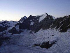 Rock Climbing Photo: Eismeer glacier from Mittellegi hut.
