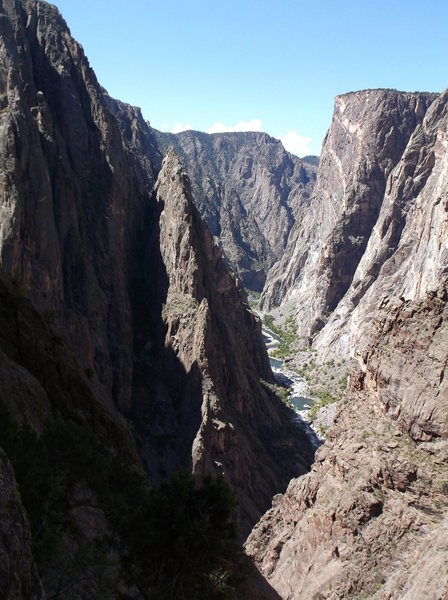 Looking down canyon from the left side of SOB.