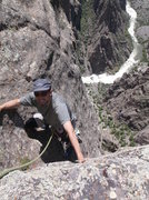 Rock Climbing Photo: Darren near the top.