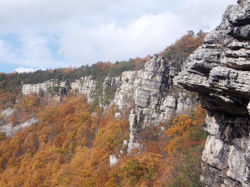 Rock Climbing Photo: Looking over at the left end from Little Jimmie