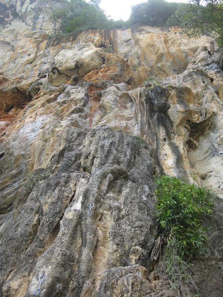 Rock Climbing Photo: For Helga follows the draws up through the small n...