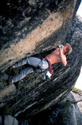 Rock Climbing Photo: Elliott Robinson places a 6-inch on the FA of &quo...