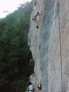 Rock Climbing Photo: The begining of Camaleon, at Conde de Mana, San Cr...