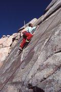 Rock Climbing Photo: Urmas Franosch TRing the left-hand variation of &q...