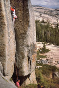 "Rock Climbing Photo: Dean Miller belays Bruce Morris on the ""Enemy..."