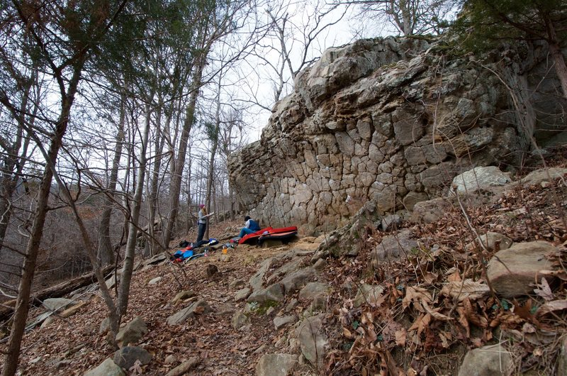 Rock Climbing Photo: Honey Comb Boulder in the North Forty