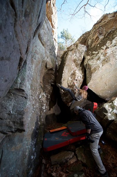 Rock Climbing Photo: Getting angry like a hobbit