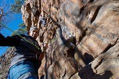 Rock Climbing Photo: Paying out slack