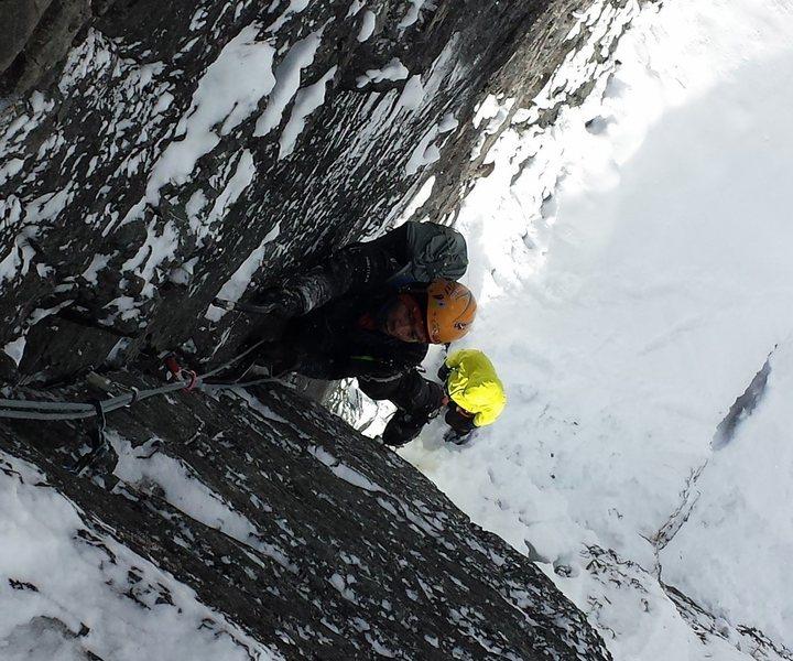 Rock Climbing Photo: Ian Liao scratching it up.