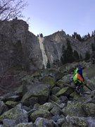 Rock Climbing Photo: Approaching Silver Strand during a drought year, J...