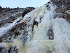 Rock Climbing Photo: Richard Shore leading P2 of Silver Strand. Photo: ...