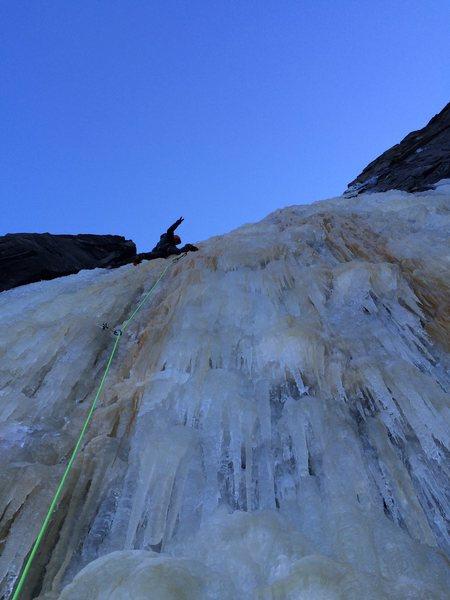 Rock Climbing Photo: Vitaliy M. on the crux lead of Silver Strand