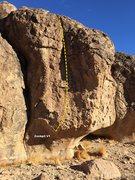 Rock Climbing Photo: Cockpit V1 Topo