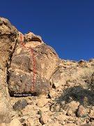 Rock Climbing Photo: Strange Hold V1 Topo
