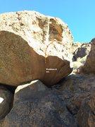 Rock Climbing Photo: Problem A V1- Topo
