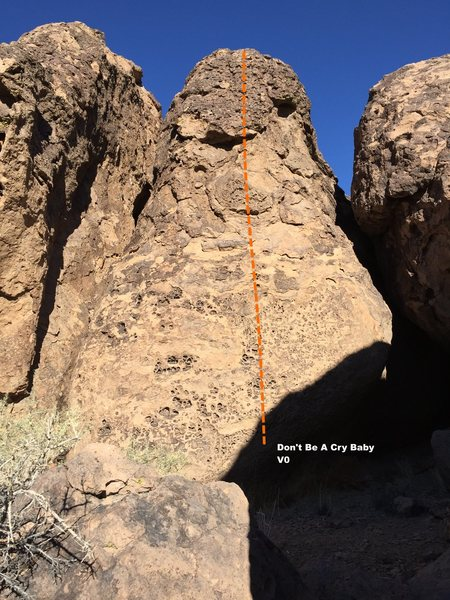 Rock Climbing Photo: Cry Baby Buttress Topo