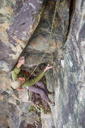 Rock Climbing Photo: Nick Black testing out the wonky beta of Psycho Pa...