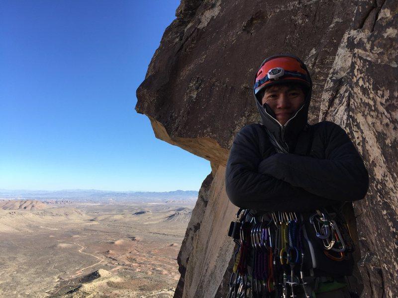Rock Climbing Photo: Freezing on Frogland in Red Rocks