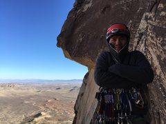 Rock Climbing Photo: Freezing on Frogland in Red Rocks