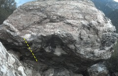 Rock Climbing Photo: Spaceship X follows the left side of the very stee...