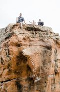 Rock Climbing Photo: Topout of the globe in zion