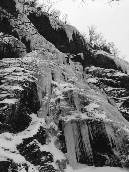 Rock Climbing Photo: Daves Snotsicle. One long 70m pitch.