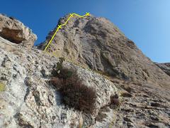Rock Climbing Photo: Start of Filo Suroeste at Peña Bernal.  Photo by ...